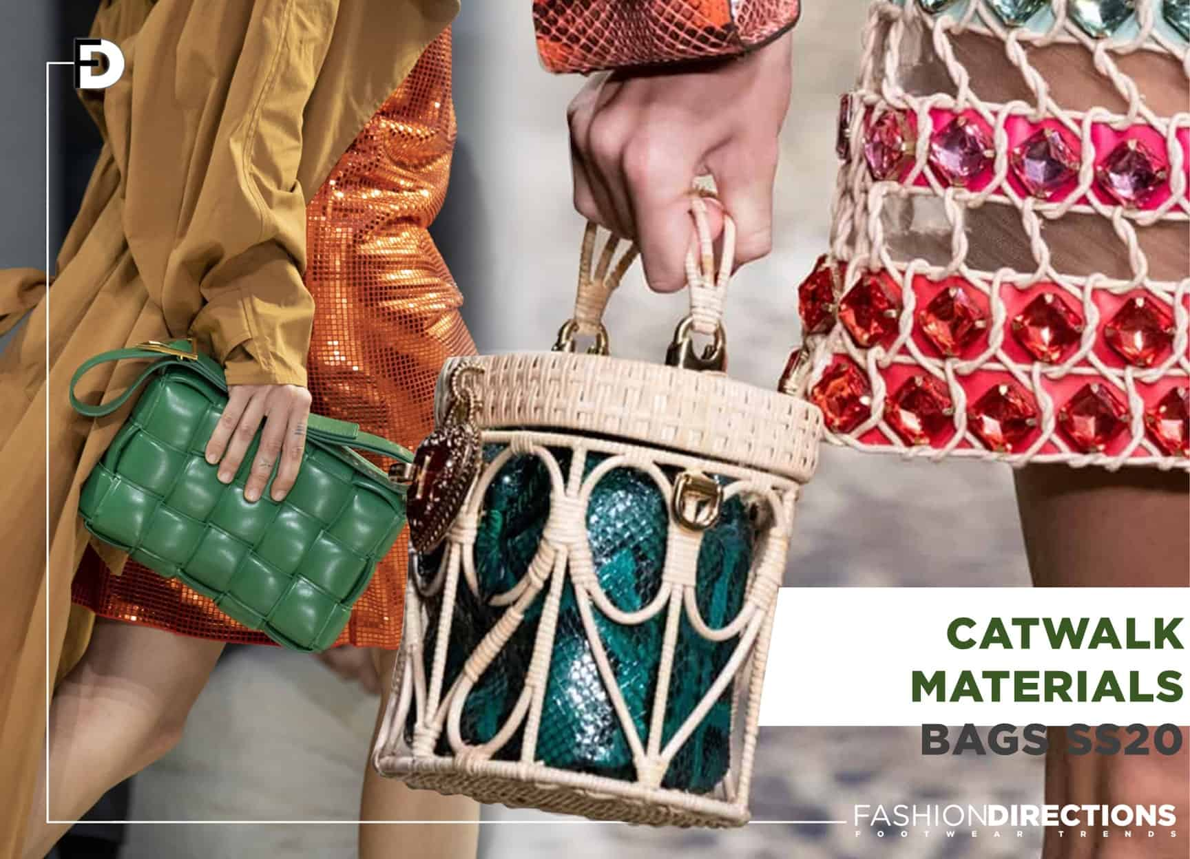 Catwalk SS20 Bags Trends 1 materials